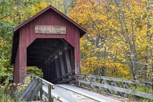 Bean Blossom Covered Bridge in Brown County, Indiana, USA by Chuck Haney