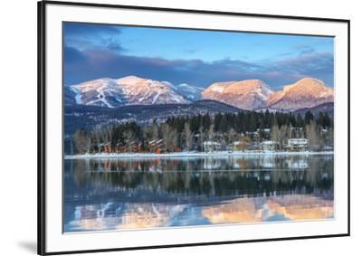 Big Mountain Reflects in Whitefish Lake, Whitefish, Montana, Usa