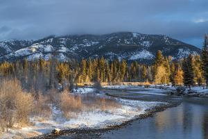 Blackfoot River at Sunrise Near Ovando, Montana, USA by Chuck Haney