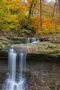 Blue Hens Falls in Autumn in Cuyahoga National Park, Ohio, USA by Chuck Haney