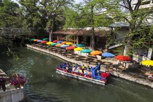 Boat Tours on the Riverwalk in Downtown San Antonio, Texas, USA by Chuck Haney
