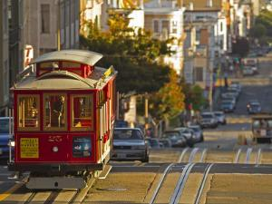 Cable Car on Powell Street in San Francisco, California, USA by Chuck Haney