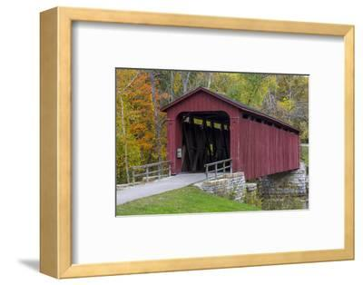 Cataract Covered Bridge over Mill Creek at Lieber, Indiana