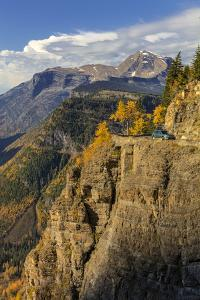 Cliffs along Going to the Sun Road in autumn in Glacier National Park, Montana, USA by Chuck Haney
