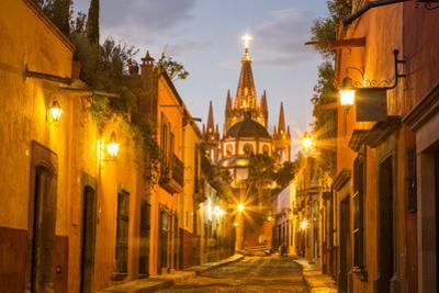 Cobblestones of Aldama Street, San Miguel De Allende, Mexico by Chuck Haney