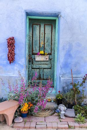 Colorful Doorway in the Barrio Viejo District of Tucson, Arizona, Usa