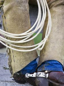 Cowboy Spurs and Chaps, Judith Gap, Montana, USA by Chuck Haney