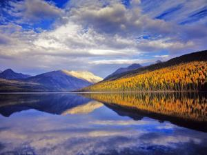 Dramatic sunset, Kintla Lake in Glacier National Park, Montana, USA by Chuck Haney