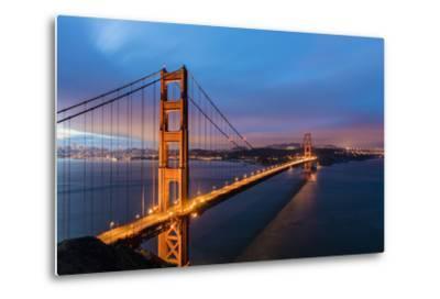 Early Morning Traffic on the Golden Gate Bridge in San Francisco, California, Usa