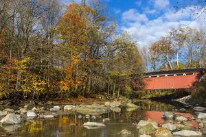Everett Road Covered Bridge on Furnace Run Cree, Cuyahoga National Park, Ohio by Chuck Haney
