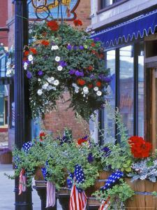 Flags and Flowers, Philipsburg, Montana, USA by Chuck Haney