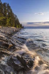 Flathead Lake, Sunrise Light at West Shore State Park Near Lakeside, Montana, USA by Chuck Haney