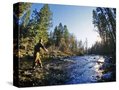 Fly-fishing the Jocko River, Montana, USA
