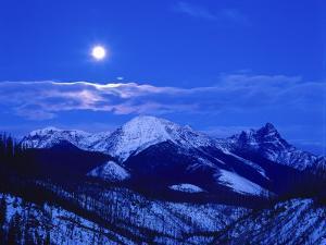 Full Moonrise over Cloudcroft Peaks, Glacier National Park, Montana, USA by Chuck Haney