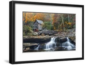 Grist Mill on Glade Creek at Babcock State Park, West Virginia, USA by Chuck Haney