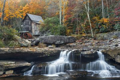 Grist Mill on GladeCreek at Babcock State Park, West Virginia, USA