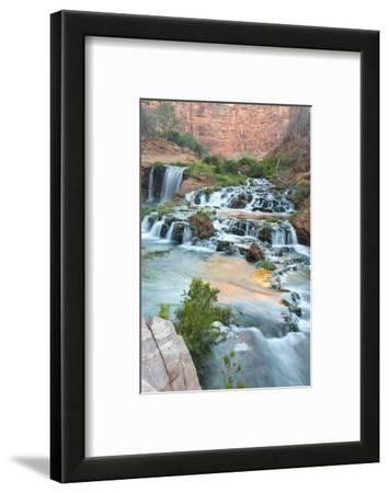 Havasu Waterfall on the Havasupai Reservation in Arizona, USA