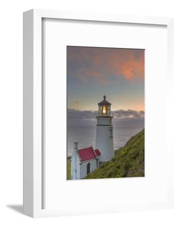 Heceta Head Lighthouse at Sunset Near Florence, Oregon, USA