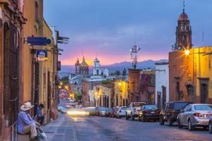 In the Centro District of San Miguel De Allende, Mexico by Chuck Haney