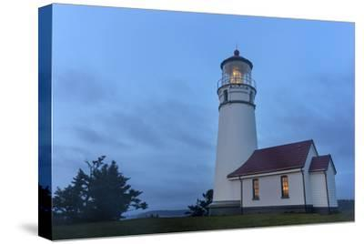 Lighthouse in Evening Light at Cape Blanco State Park, Oregon, USA