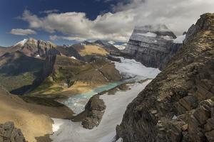 Looking Down at Grinnell Glacier in Glacier National Park, Montana, USA by Chuck Haney