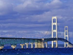 Mackinac Bridge, Michigan, USA by Chuck Haney