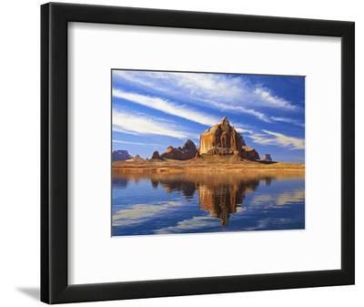 Mesas and Buttes Reflect into Lake Powell in Utah, Usa