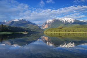 Mission Reservoir, Peaks of the Mission Mountains Near St Ignatius, Montana, USA by Chuck Haney