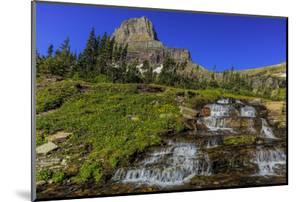 Oberlin Creek with Mount Clements at Logan Pass in Glacier National Park, Montana, USA by Chuck Haney