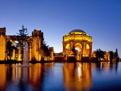 Panoramic of the Palace of Fine Arts at Dusk in San Francisco, California, Usa by Chuck Haney