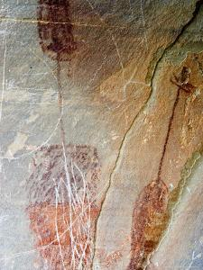 Pre-Historic Native American Pictographs at Bear Gulch near Lewistown, Montana, USA by Chuck Haney