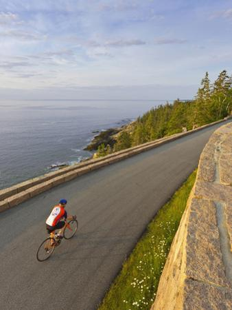 Road Bicycling in Acadia National Park, Maine, Usa