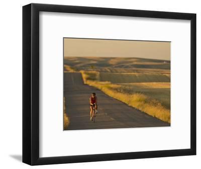 Road Bicycling Near Great Falls, Montana, Usa