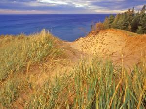 Sand Dunes Along Lake Superior at Pictured Rocks National Seashore, Grand Marais, Michigan, USA by Chuck Haney