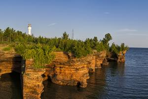 Sandstone Cliffs, Sea Caves, Devils Island, Apostle Islands Lakeshore, Wisconsin, USA by Chuck Haney