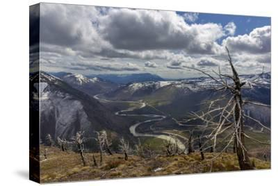 Scenic Mountain Overlook into Glacier National Park, Montana