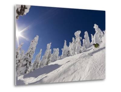 Skiing Untracked Powder at Whitefish Mountain Resort, Montana, Usa