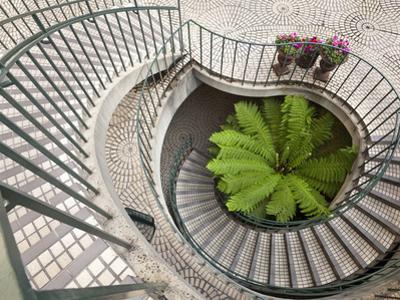 Spiral Staircase at the Embarcadero Center in Downtown San Francisco, California, USA by Chuck Haney