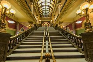 Stairway in the rotunda of the State Capitol Building in Helena, Montana, USA by Chuck Haney