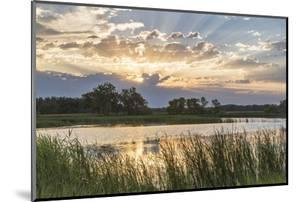 Sunrise over Backwater of the Milk River Near Glasgow, Montana, USA by Chuck Haney