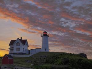 Sunrise Skies over Nubble Aka Cape Neddick Lighthouse in York, Maine, Usa by Chuck Haney