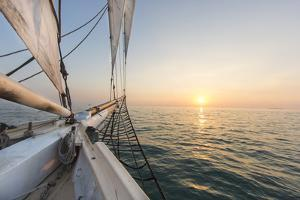 Sunset Cruise on the Western Union Schooner in Key West Florida, USA by Chuck Haney