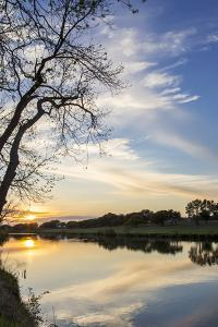 Sunset on the Pedernales River, Lbj State Park, Stonewall, Texas, Usa by Chuck Haney