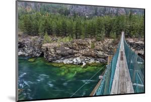 Swing Bridge over the Kootenai River Near Libby, Montana, Usa by Chuck Haney