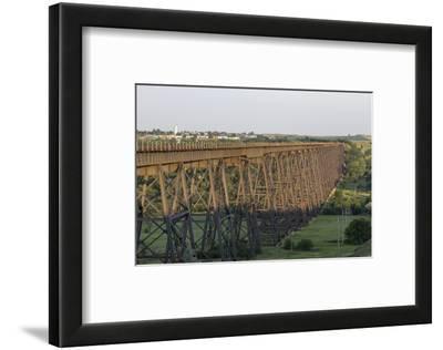 The High Line Railroad Bridge Trestle in Valley City, North Dakota, USA