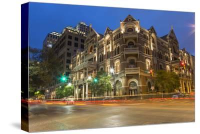 The Historic Driskell Hotel at Dusk, Austin, Texas, USA