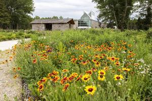 The International Peace Gardens Near Dunseith, North Dakota, USA by Chuck Haney