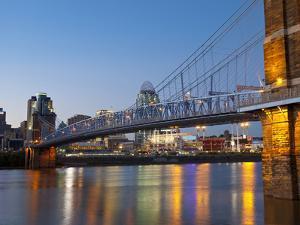 The Skyline of Cincinnati, Ohio, Usa by Chuck Haney
