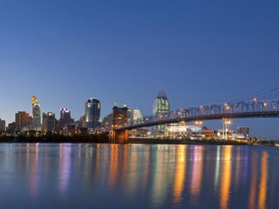 The Skyline of Cincinnati, Ohio, Usa by Chuck Haney