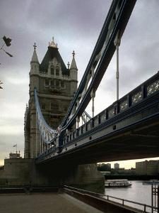 Tower Bridge, Thames River, London, England by Chuck Haney